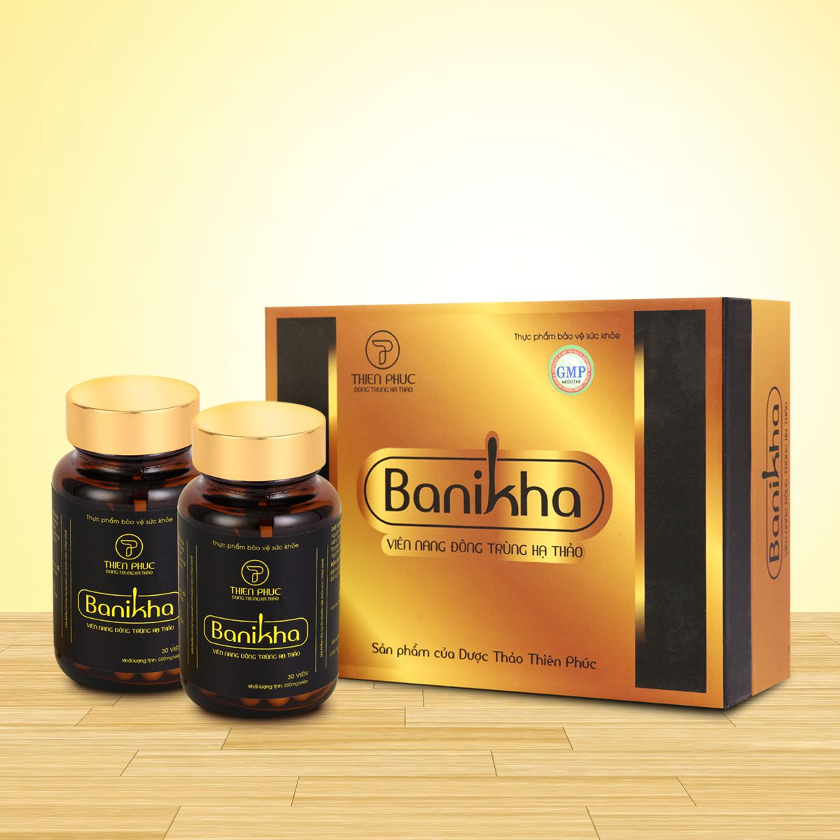 Thực phẩm bảo vệ sức khoẻ viên nang đông trùng hạ thảo Banikha