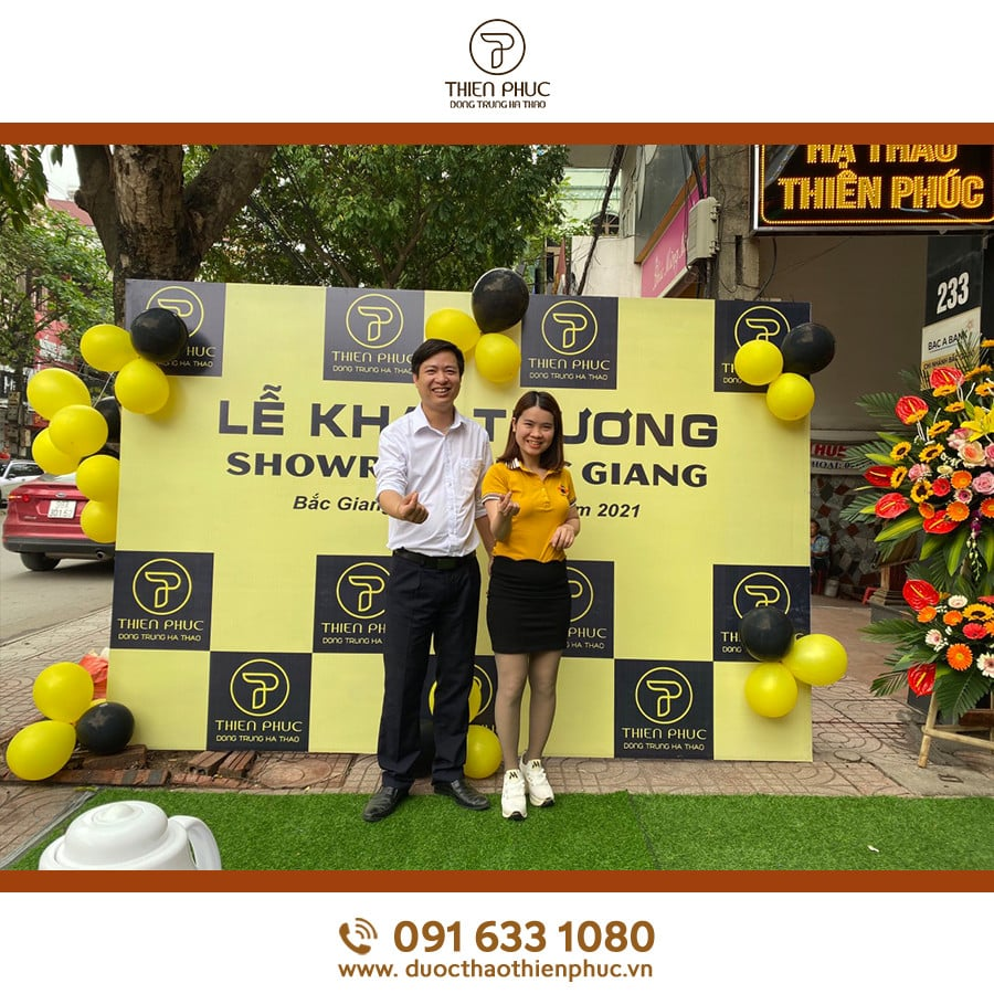 Lễ khai trương showroom đông trùng hạ thảo Thiên Phúc tại Bắc Giang thành công tốt đẹp